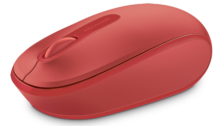 Microsoft 1850 Wireless Mouse (Flame Red) LARGE