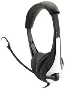 Avid AE-36 On-Ear Stereo Headset with Mic (White)