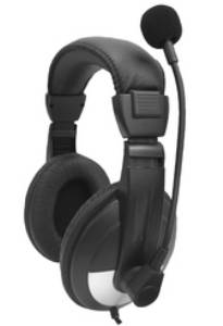 Avid SMB-25VC Noise Cancelling Over-Ear Lab Headset with Mic & Volume Control