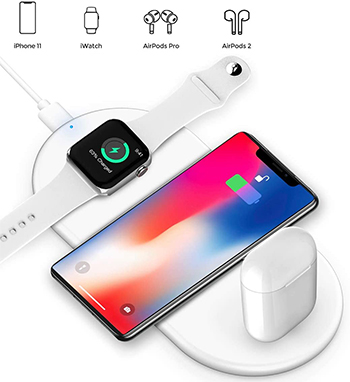 3-in-1 Wireless Charging Pad for iPhone/Watch/AirPods LARGE