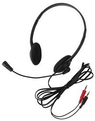 Califone 3065AV Lightweight Personal Multimedia Stereo Headset with Dual 3.5mm Plugs (10-Pack) LARGE