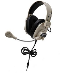 Califone 3066AVT Deluxe Multimedia Stereo Headset with 3.5mm To Go™ Plug for SmartPhones & Tablets LARGE