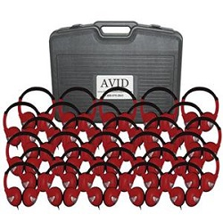 Avid FV-060 Lightweight On-Ear Headphones Classroom Pack (Red)
