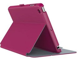 Speck StyleFolio Case for iPad Mini 4 (Fuschia Pink/Nickel Grey) (While They Last!)