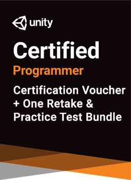 Unity Certified Programmer Bundle - certification plus one retake (if necessary) + practice test THUMBNAIL