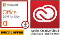 Microsoft Office 2016 for MAC with Adobe Creative Cloud (ON SALE!)
