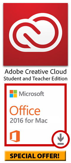 Microsoft Office 2016 for MAC with Adobe Creative Cloud (SPECIAL OFFER!)