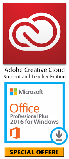 Microsoft Office 2016 for WINDOWS with Adobe Creative Cloud (SPECIAL OFFER!)