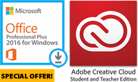 Microsoft Office 2016 for WINDOWS with Adobe Creative Cloud (ON SALE!)