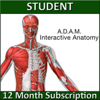 A.D.A.M. Interactive Anatomy Online – 12 Month Student Edition