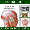 A.D.A.M.  Anatomy Practice Online - 12 Month Instructor/Institutional Version