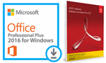 Microsoft Office 2016 Pro Plus (Download) with Adobe Acrobat Pro 2017 (Windows - DVD)