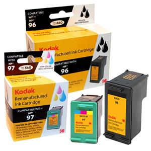 Kodak Brand Ink Cartridge Compatible With HP 96/97 (Combo Pack - Black and Tri) LARGE
