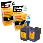 Kodak Brand Ink Cartridge Compatible With HP 21/22 (Combo Pack - 1 black/1 color) THUMBNAIL