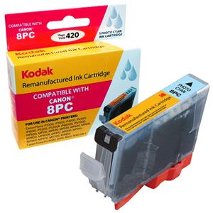 Kodak Brand Ink Cartridge Compatible With Canon CLI-8PC (Photo Cyan) LARGE