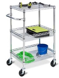 3-Tier Urban Utility Chrome Cart LARGE