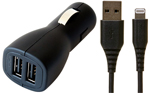 CODi Dual USB Car Charger (2 USB Ports) with FREE 6-Foot Lightning-USB Cable THUMBNAIL