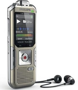 Philips Voice Tracer DVT6500 Music Enhanced 4GB Digital Voice Recorder