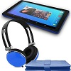 "Ematic 10"" Quad-Core Android 5.1 Tablet BONUS! Bundle (Blue)"