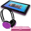 "Ematic 10"" Quad-Core Android 5.1 Tablet BONUS! Bundle (Purple)"