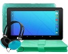 "Ematic 10"" Quad-Core Android 7.1 Tablet Bonus Bundle (Teal)"
