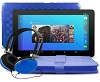 "Ematic 7"" Quad-Core Android 7.1 Tablet Bonus Bundle (Blue)"
