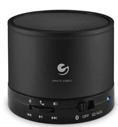 Ematic Wireless Speaker & Speakerphone (Black)