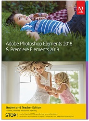 Adobe Photoshop Elements 2018 & Premiere Elements 2018 Student & Teacher Edition (Download)