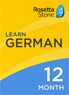 Rosetta Stone German 12 Month Subscription for Windows/Mac 1-2 Users, Download