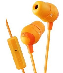 JVC Marshmallow Earbuds with Inline Remote (Orange)