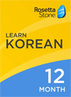 Rosetta Stone Korean 12 Month Subscription for Windows/Mac 1-2 Users, Download