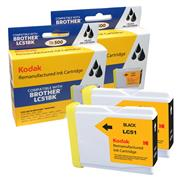 Kodak Brand Ink Cartridge Compatible With Brother LC-51BK2PK (Combo Pack - 2 black) THUMBNAIL