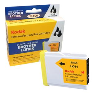 Kodak Brand Ink Cartridge Compatible With Brother LC51BK (Black) LARGE