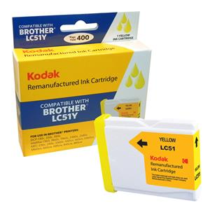 Kodak Brand Ink Cartridge Compatible With Brother LC51Y (Yellow) LARGE