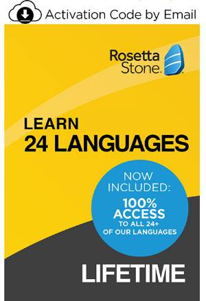 Rosetta Stone: Learn 24 Languages - Lifetime Access (PC/Mac Online Code) LARGE