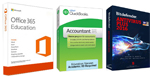 Microsoft Office 365 Education with QuickBooks and AntiVirus Bundle (Windows Download)