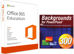 300 PowerPoint Backgrounds with FREE Microsoft Office 365 Education (Win/Mac)
