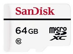 SanDisk High Endurance Video microSD & microSDXC Card 64GB