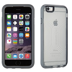 Speck MightyShell iPhone 6/6s Case w/FREE Car Charger (Clear/Clear/Slate Grey)