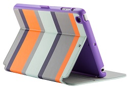 Speck StyleFolio Case for iPad Mini 2/3 (Cabana Stripe/Vivid Purple) (While They Last!)
