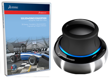 SolidWorks Student Edition 2017-2018 with 3Dconnexion SpaceNavigator 3D Mouse