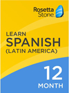 Rosetta Stone Spanish 12 Month Subscription for Windows/Mac 1-2 Users, Download