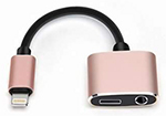 iPhone Splitter Cable - 1 Lightning Port & 1 AUX Port (Listen & Charge) - (2 For $15) SWATCH