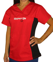Happy Up Women's Sporty Scrub Top LARGE