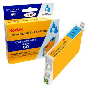 Kodak Brand Ink Cartridge Compatible With Epson 60 (Cyan) LARGE