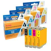 Kodak Brand Ink Cartridge Compatible With Epson 125 (Combo Pack: B/C/M/Y) THUMBNAIL