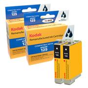 Kodak Brand Ink Cartridge Compatible With Epson 125 (Combo Pack: 2 Black) THUMBNAIL