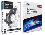 TurboCAD Deluxe 2019 with Bitdefender AntiVirus 2019 (Windows Download) - SPECIAL OFFER! THUMBNAIL