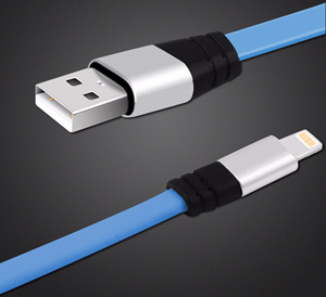 6-Foot Tangle-Free Flat Lightning Cable for iPhone/iPad