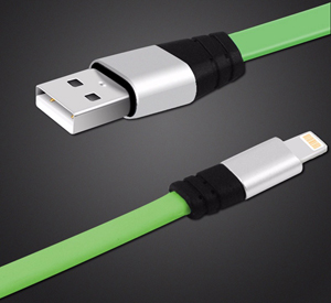 6-Foot Tangle-Free Flat Lightning Cable for iPhone/iPad (4 For $20)